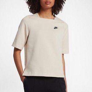 Nike Oatmeal Tech Fleece Top